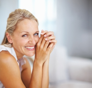 Mature woman white smiling