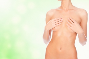 breast covered female body nude