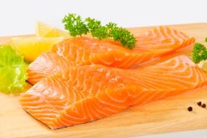salmon raw filets