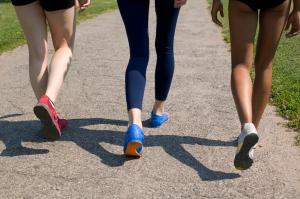 women walking exercise