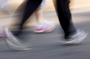 walking blurred