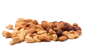 nuts cashews hazelnuts and almonds