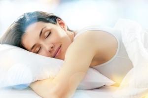 sleep woman sleeping rest bed