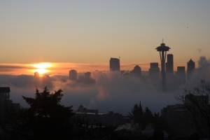 sunrise in Seattle
