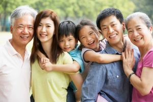 Asian American family
