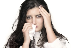 woman cold infection sick