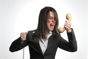 angry businesswoman anger yelling shouting into phone